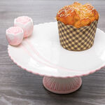 Dolomite Cake Stand With Flower Pink image number 2