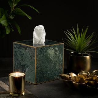 Tissue Box Green Marble