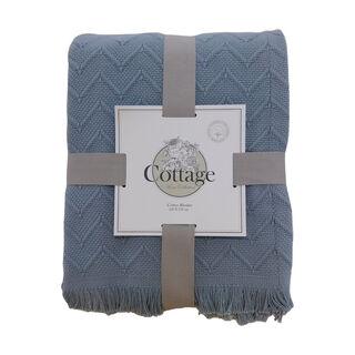 Cottage Cotton Blanket King Daily Indigo