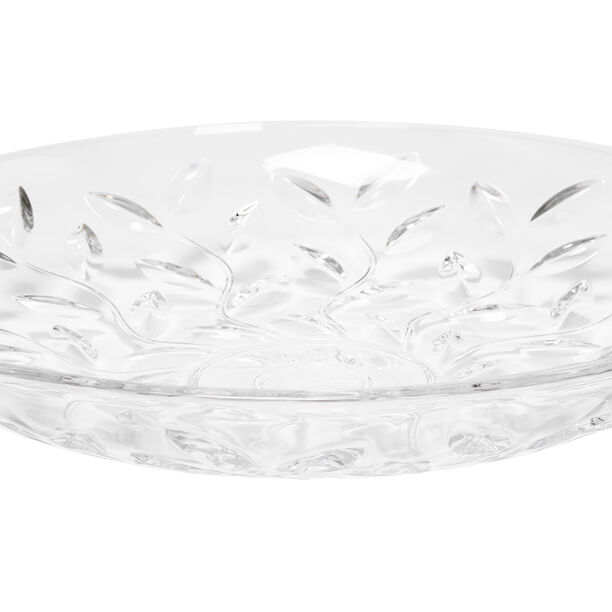 Rcr Laurus Crystal Platter Centerpiece image number 1