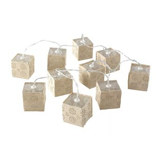 Chain Light String Led Square Shape Set 10 Pieces