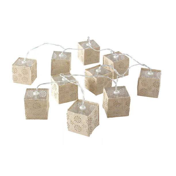 Chain Light String Led Square Shape Set 10 Pieces image number 0