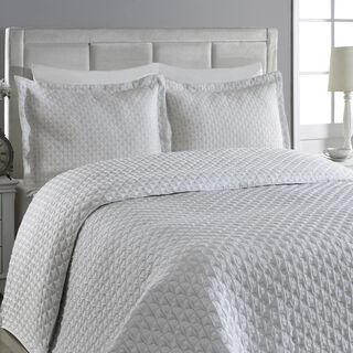 Cottage Bedspread Cover Modern Jacquard Grey 260X250 Super King