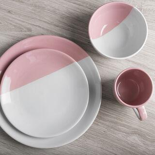 طقم سفرة 16 قطعة لون وردي فاتح من لاميسا