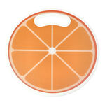 Round Plastic Printed Cutting Board Orange Design image number 0