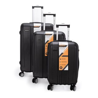 "Travel Vision Trolley Set Of 3 Pcs 20"", 24"", 28"" Black"
