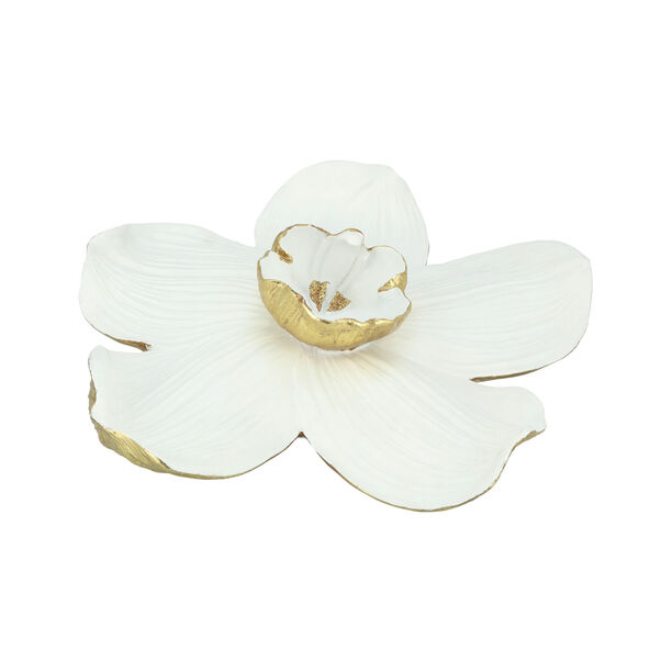 Wall Decoration Orchid Flower White & Gold image number 1