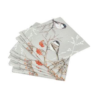 Ambiente Serving PaperNapkinsBird On Branch Grey Color