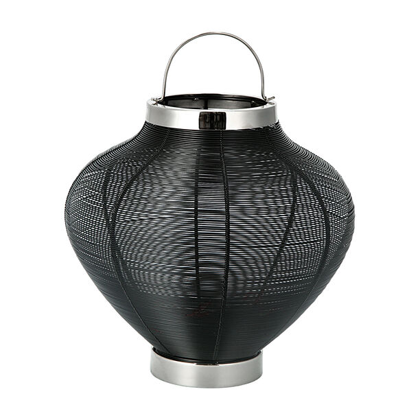 Candle Holder Black With Silver Base image number 0