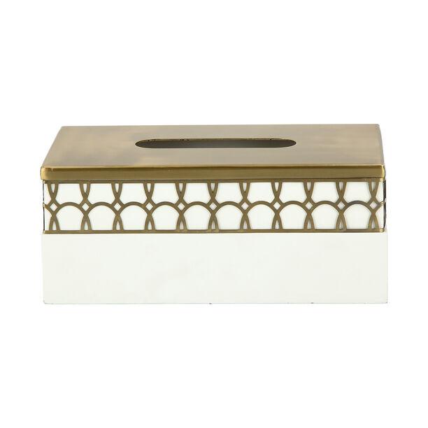 Metal & Wood Tissue Box Qamaryat image number 2