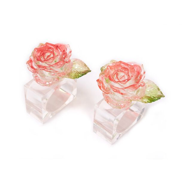 2 Pieces Acrylic Napkin Ring Polyresin Colored image number 0