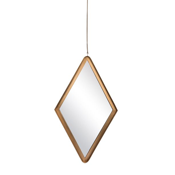 Iron Wall Mirror Special Shape Gold  image number 0