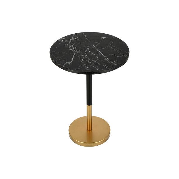 Side Table Gold Base Black Marble Top image number 3