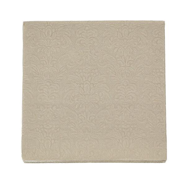 Elegance Serving Napkins Paper Square Taupe image number 1