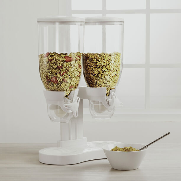 Alberto Double Cereal Dispenser White Color image number 1