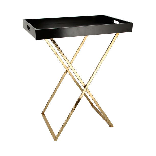Butler Table Tray Top Gold With Black image number 0