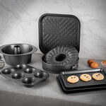 Betty Crocker Non Stick 6 Cup Texas Muffin Pan, Grey Color L:32Xw:21.5Xh:3.8Cm image number 2
