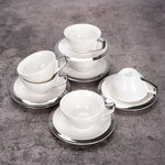 English Coffee Cups Set Silver 100 Ml image number 2