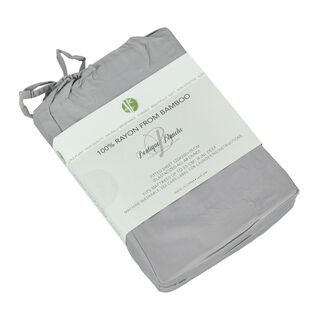 Boutique Blanche Bamboo Fitted Sheet 120X200+35 Cm Grey