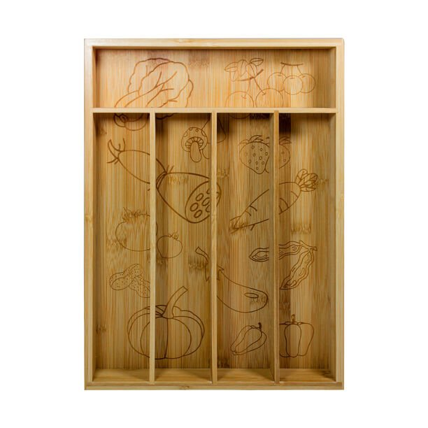 Alberto Bamboo Divided Cutlery Box image number 1
