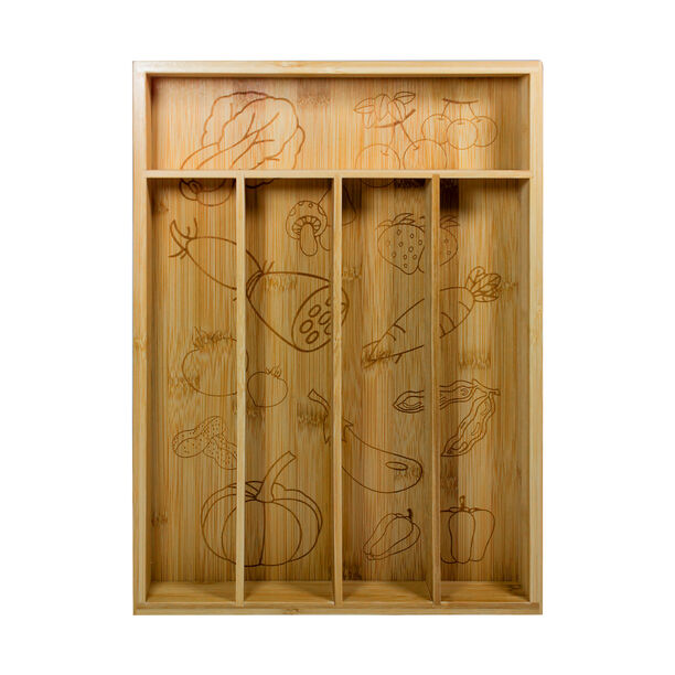 صندوق خشبي مقسّم لحفظ ادوات المائدة من البرتو image number 1
