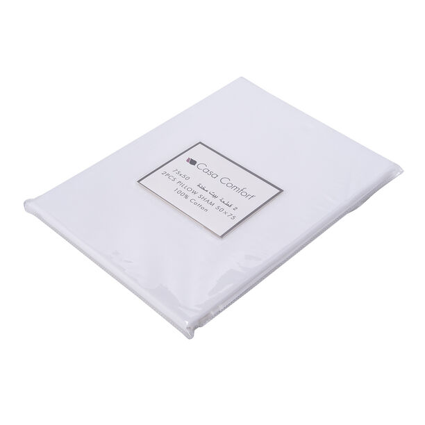 2Pcs Pillow Cover White image number 2