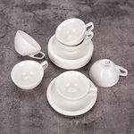 English Coffee Cups Set White 100 Ml image number 2