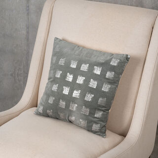 Cuhsion Cotton Print Silver Foiled Print On Velvet 45X45 Cm