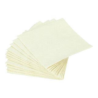 مناديل ورقية مربعة الشكل لون كريمي من الجانس