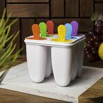 طقم قوالب بلاستيك لصنع الايس كريم 4 قطع متعددة الالوان من البرتو  image number 0