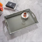 Serving Tray Antique Finish Grey Color image number 0