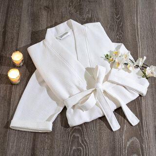 Cottage Bathrobe Zincir Kimono S White