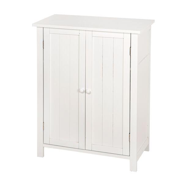 خزانة خشبية لون أبيض image number 0
