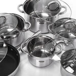 Alberto 12Pcs Stainless Steel Cookware Set image number 1