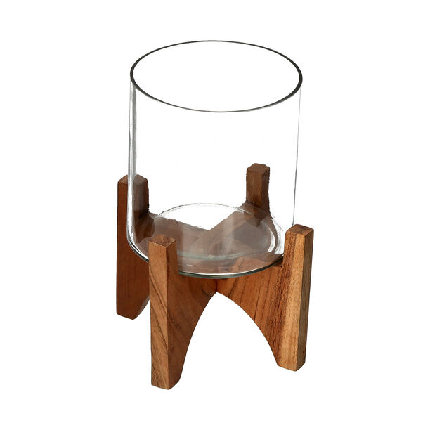 Planter Wood And Glass image number 1