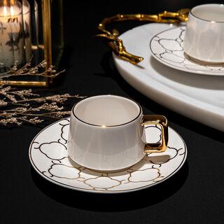12 Pcs Porcelain Turkish Coffee Set Dutone