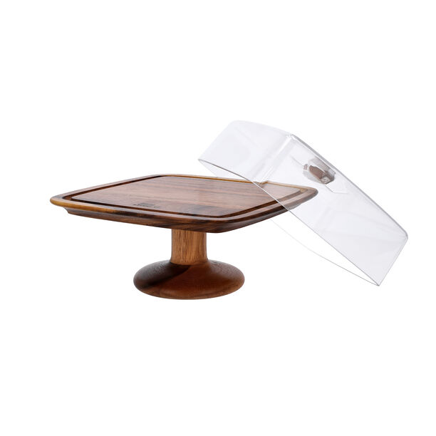 Billi Acacia Wood Cake Dome With Stand L: 29.5O * 29.50Cm* 21Cm image number 3