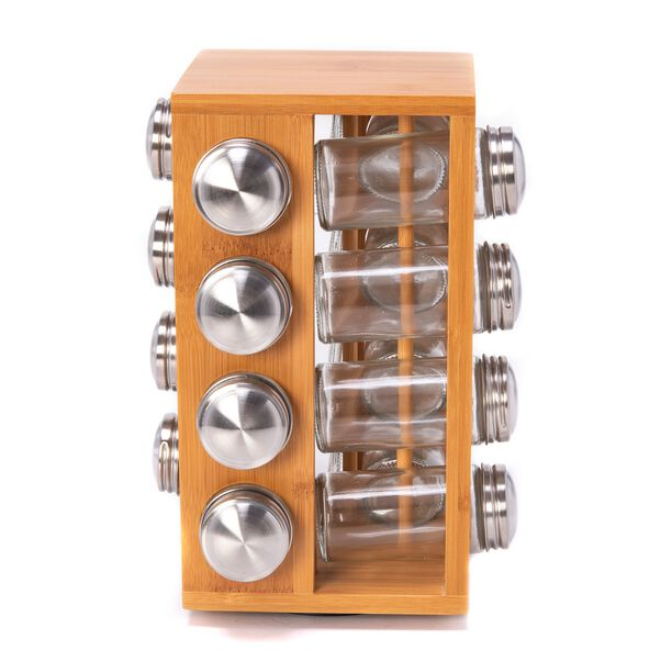 Spice Jars Set 16 Pieces With Bamboo Rack  image number 1