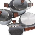 Alberto 7Pcs Non Stick Grey Cookware Set image number 2