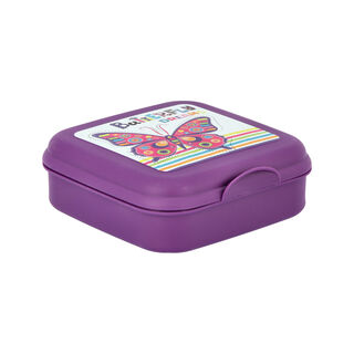 Herevin Lunch Box Butterfly Design Purple