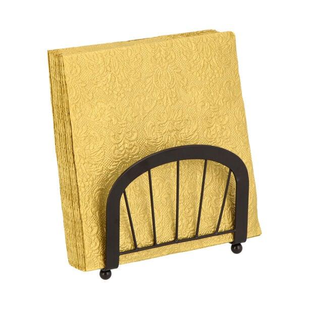 مناديل ورقية مربعة الشكل لون ذهبي من الجانس  image number 2