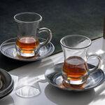 La Mesa Arabic Tea 12 Pieces Set Grey Marble And Silver image number 3