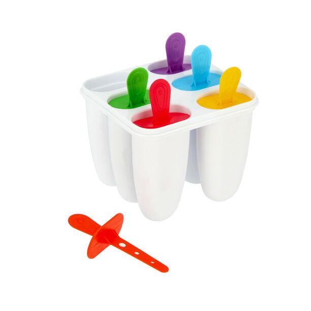 طقم قوالب بلاستيك لصنع الايس كريم 4 قطع متعددة الالوان من البرتو  image number 3