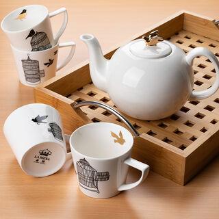 طقم شاي بورسلان 4 قطع من لاميسا
