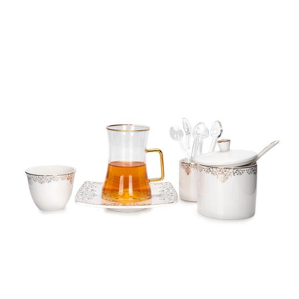 طقم كاسات قهوة مع شاي 28 قطعة image number 3
