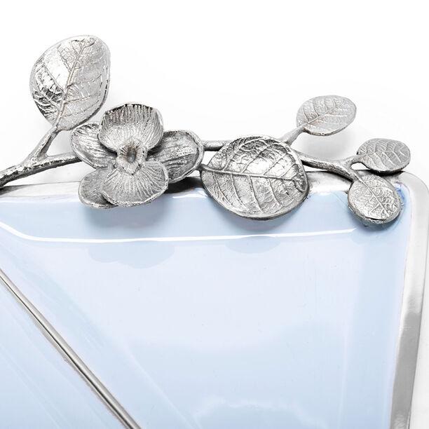 La Mesa Nut Bowl Blue Silver Design image number 1
