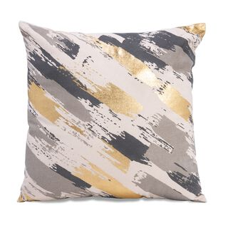 Cotton Cushion Print Gold Foiled 45X45 Cm