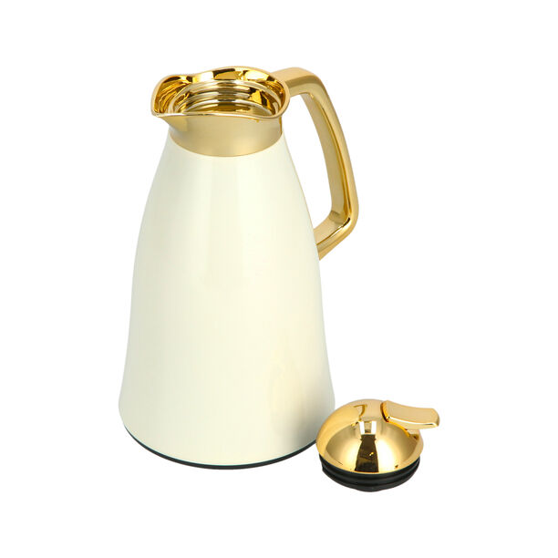 Vacuum Flask Chrome And Beige 1L image number 2