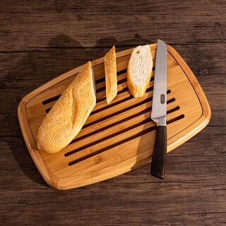 Alberto Acacia Wood Rectangular Cutting Board For Bread
