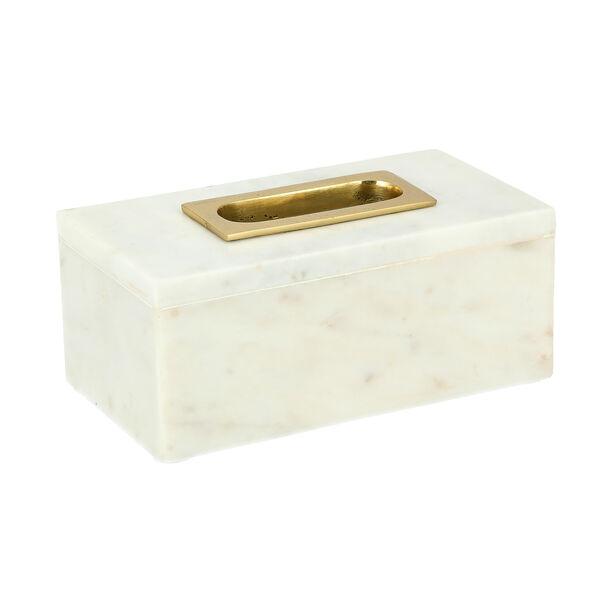 Tissue Box Marble White image number 0